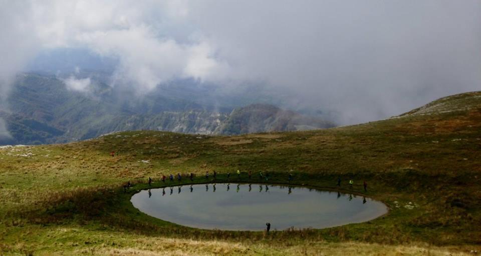 il gruppo ai laghetti dei Monti Gemelli
